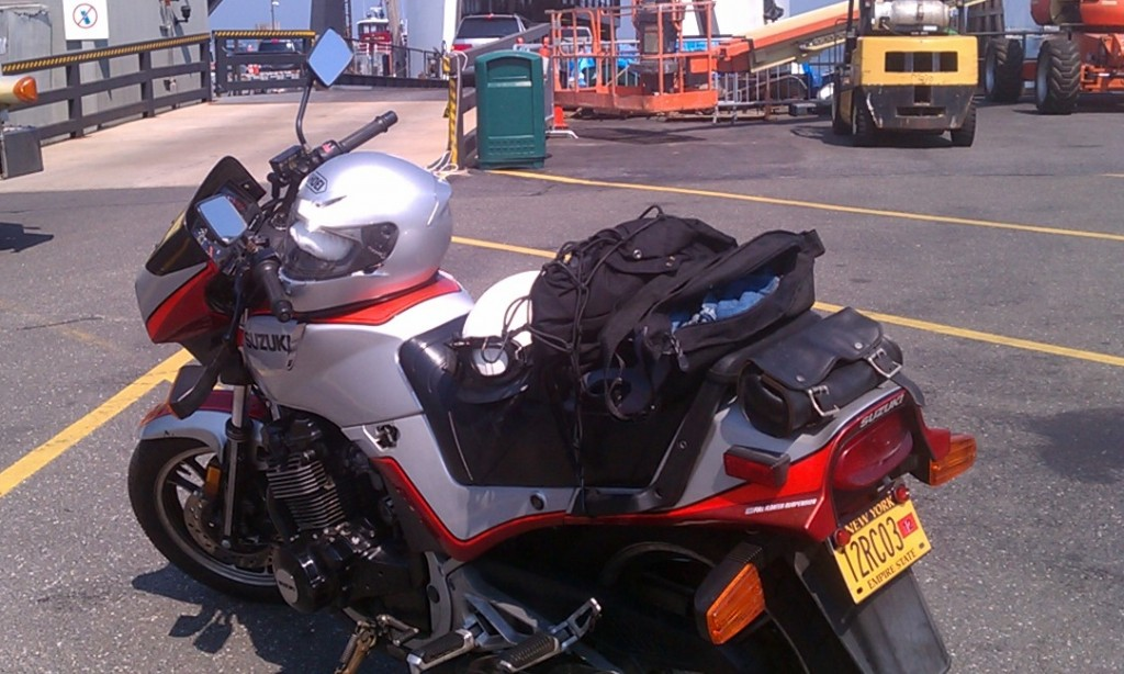 1983 Suzuki GS550 at Port Washington Ferry, Long Island, NY