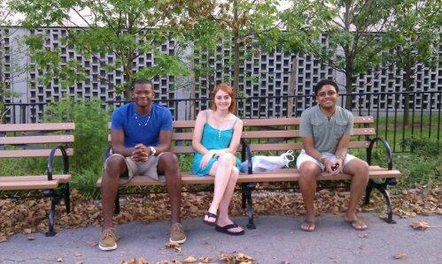 in Walt Whitman Park in Brooklyn
